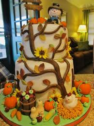 fall birthday cakes for