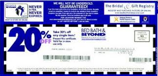 bed bath bridal registry checklist bed bath and beyond coupon