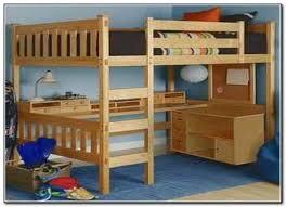 Wooden Loft Bed With Desk Underneath Amusing Wood Loft Bed With Desk Underneath 25 In Designing Design