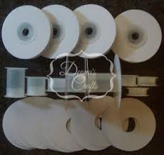 empty ribbon spools 12 1 4 or 3 8 empty ribbon spools plastic with or w o flanges