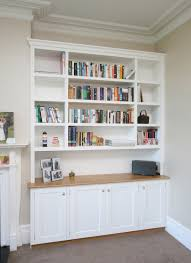 hand painted bespoke alcove unit with oak worktop