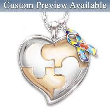 Personalized Charms Bulk Autism Necklaces Charms And Pendants Autism Awareness Necklaces