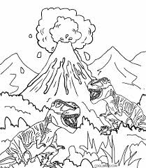 volcano coloring pages kids coloring