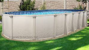 Backyard Pool Sizes by Saltwater 5000 Oval Saltwater Pools The Pool Factory