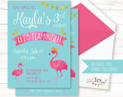flamingo birthday invitation flamingo invitation let u0027s
