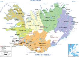 iceland map iceland political map tales from the motherland