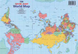 Blank Hemisphere Map by D E C E P T O L O G Y Upside Down World Map Shows