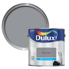 dulux standard natural slate matt wall u0026 ceiling paint 2 5l