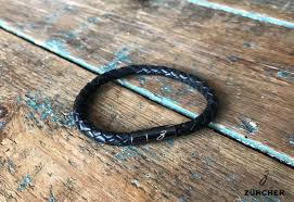 black woven leather bracelet images Black woven leather bracelet by z rcher minor detail jpg