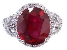 ruby rings designs images 14k white gold oval ruby and round cut diamonds antique deco jpg