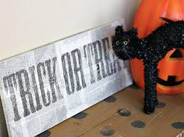trick or treat halloween background distressed trick or treat sign hgtv