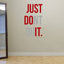 home gym wall decor just dont quit gym workout motivation quote words vinyl wall art