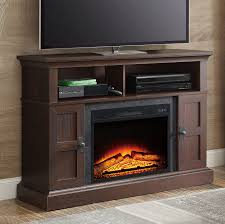 furniture magnificent media center with fireplace at walmart