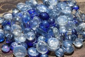 pearl vase fillers antique gold and royal blue satin rose petals blend flower