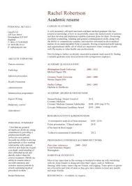 Student Resumes For Jobs by Academic Cv Template Curriculum Vitae Academic Cvs Student Resume