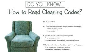 how you can read upholstery cleaning codes cleaners