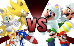mario luigi sonic tails rematch cartoon fight club