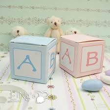 baptism favor boxes baby block cubic favor box baby shower birthday party candy boxes