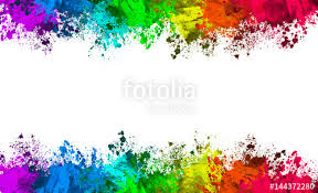 color and paint multi color paint splatter border background stock photo and
