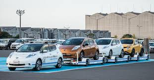 nissan leaf in pakistan driverless towing system improves production efficiency at