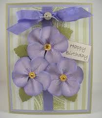 pansy birthday card favecrafts com