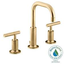 Kohler Vanity Faucets Kohler Gold Bathroom Faucets Bath The Home Depot