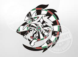 tribal wolf darts shirt design rags to stitches productions