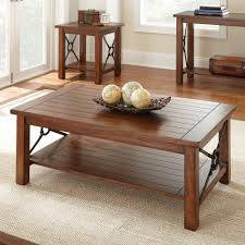 dark wood coffee table sets basket coffee table and end set by liberty furniture wolf inside