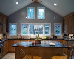 high ceiling kitchen design ideas vaulted ceiling light fixtures