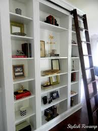 furniture decorating library ladder ikea and bookcase wall unit