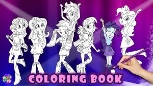 my little pony color book equestria girls coloring book my little pony coloring for kids