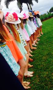 big hat brunch invitations kentucky derby style brunch party sundresses and big hats