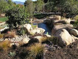 landscape design with rocks