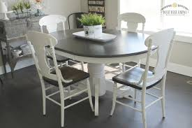 farmhouse style painted kitchen table and chairs makeover what