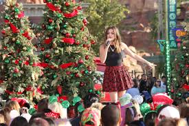 lucy hale at disney frozen christmas celebration in anaheim