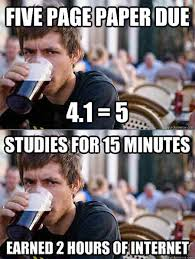 College Students Meme - 7 funny lazy college senior memes techeblog