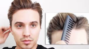 men u0027s hair messy off centered part tutorial youtube