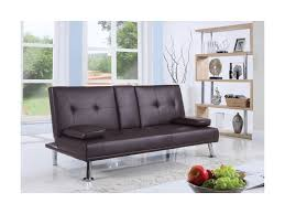 sofa master furniture coaster futons leatherette sofa bed with center console miskelly