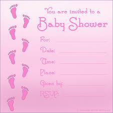 You Are Invited Card Color Baby Showers Invitations Templates