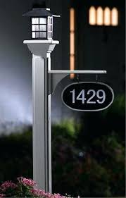 light post with address sign solar address light house number post lighted house number sign