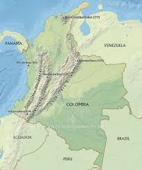Bogota Colombia Map South America by Colombia Physical Map