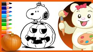 halloween charlie brown snoopy holiday coloring pages youtube