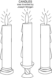 candle coloring printable free pages christmas glum