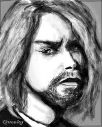 kurt cobain a character speedpaint drawing by slash queeky
