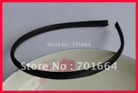 bando headbands 10pcs 7mm black satin fabric wrapped plain plastic hair headbands