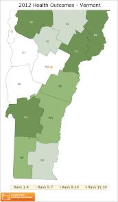 Map Vermont Vermont Rankings Data County Health Rankings U0026 Roadmaps