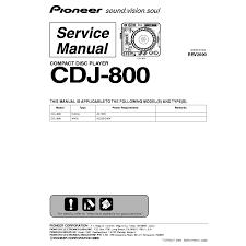 pioneer cdj 800 service manual download schematics eeprom