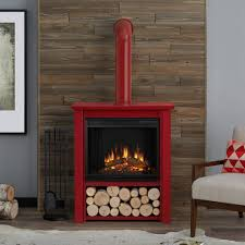 Electric Fireplace Stove Real Hollis 32 In Freestanding Electric Fireplace In