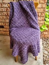 crochet home decor crochet afghan purple heather throw handmade blanket large lapghan