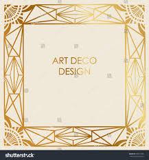 art deco design border frame template stock vector 676613296